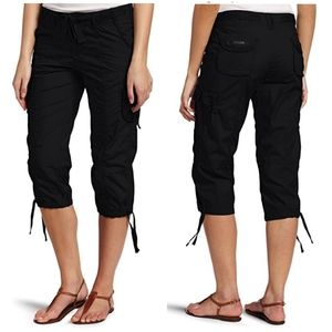 Calvin Klein Cargo Pants Capri Crop Black 12 Large